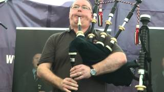Piping Live 2015 - Willie McCallum plays his new Duncan MacRae Pipes
