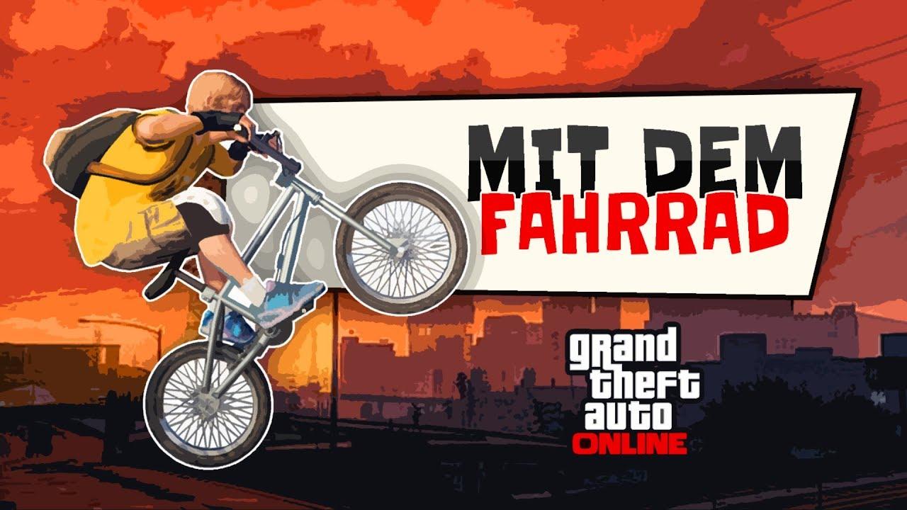 Mit dem Fahrrad 🚘 GTA 5 Online - YouTube