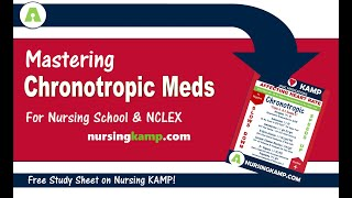 What are Chronotropic Medications ICU CCU NCLEX Prep Nursing KAMP 2019