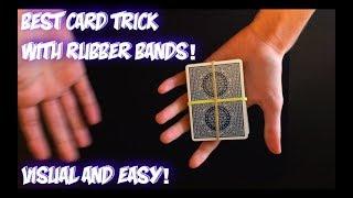 Rubber Riser: Impromptu VISUAL Card Trick Performance And Tutorial!