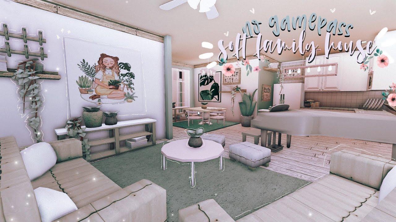 BLOXBURG: Soft Family House | NO GAMEPASS interior ˚ ♡
