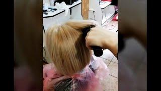 Окрашивание с укладкой Мастер Татьяна Угро салон красоты La Familia salon Семейная парикмахерская