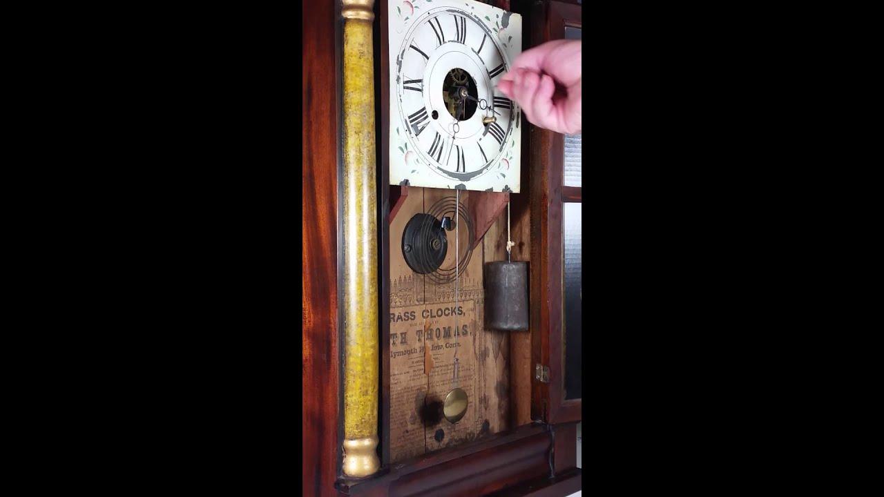 Seth Thomas Brass Movement Weight Driven Clock Main Wind Youtube