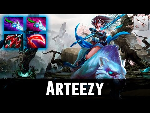 Arteezy Mirana Perfect Arrows Highlights Dota 2