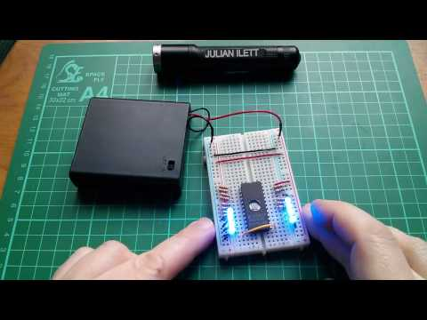 Chip on Breadboard - 2716 EPROM