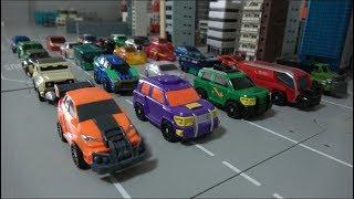 공룡메카드와 터닝메카드W 자동차 장난감 변신 Dino Mecard Turning Mecard W Car Robot Toys
