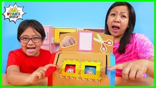 How to make DIY Rock Paper Scissors Machine from Cardboard!!!