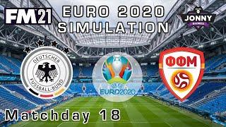Euro 2020 Simulation Quarter Final Germany v North Macedonia Football Manager 2021