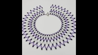 Basic Netting, Necklace tutorial