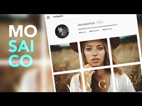 Como Fazer Um Mosaico Para Foto No Feed Do Instagram Photoshop Tutorial