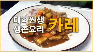 [대학원생 생존요리] 일식 카레 (자취요리)
