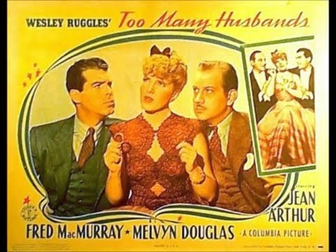 Too Many Husbands 1940 Jean Arthur and Fred MacMurray