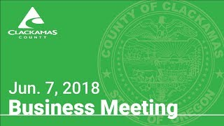 Board of County Commissioners' Meeting June 7, 2018