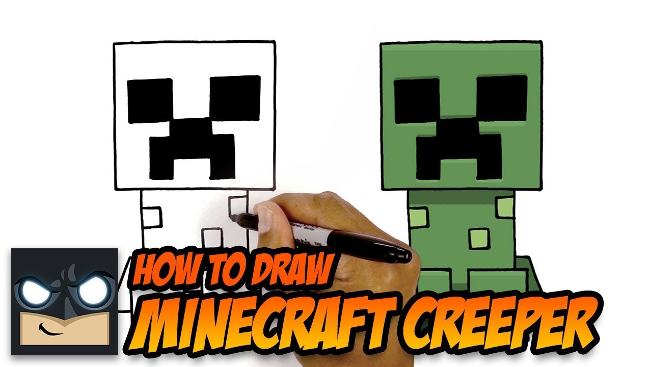 How To Draw A Minecraft Creeper Youtube