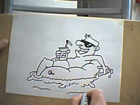 Dibujando una piscina drawing a pool youtube for Escaleras piscina para personas mayores