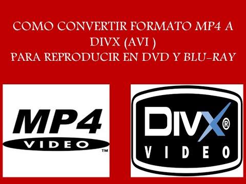 como convertir videos mp4 a divx