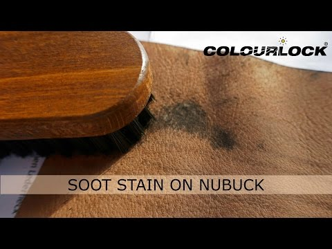 Stains on nubuck leather