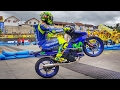 FIRST PUBLIC RACE of Valentino Rossi and Maverick Viñales (MotoGP Yamaha GP)