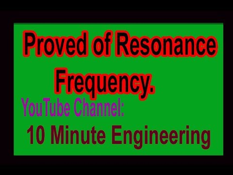 Electrical Circuit-2 (66731), Chapter-3, Lecture-7, Proved of Resonance Frequency.