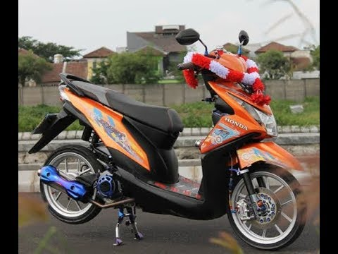Modifikasi Motor Beat Fi Warna Orange