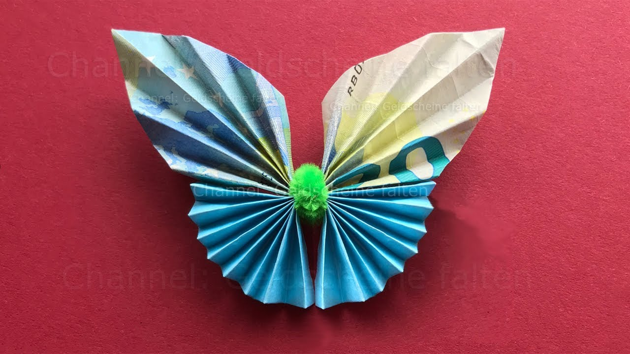 Schmetterlinge Aus Geld Basteln