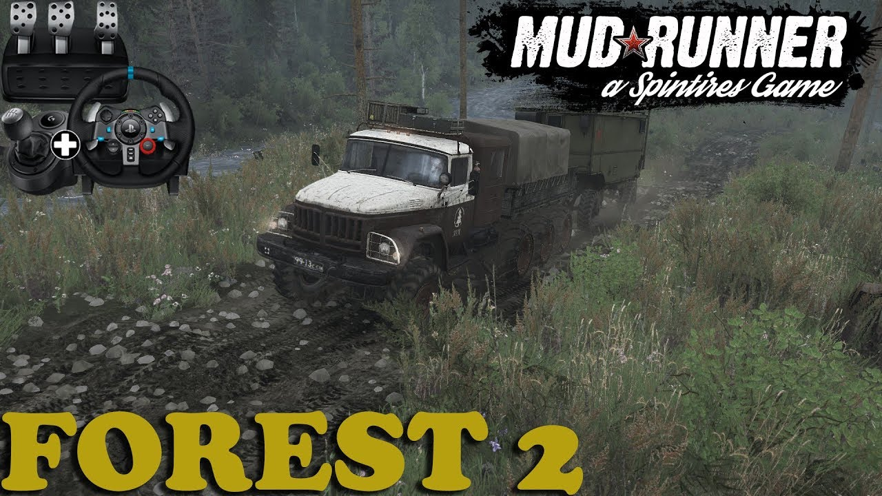Spintires: MudRunner | Forest 2 | Map Mod | Zil 131 8x8 | PC ... on