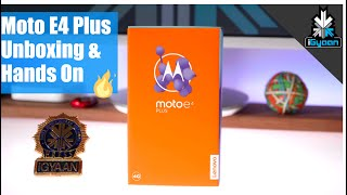 Moto E4 Plus - Unboxing & Hands On