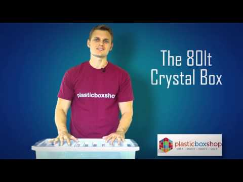 View our 80 Litre Large Crystal Plastic Storage Box