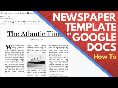 Editable Newspaper Template Google Docs - How to Make a Newspaper on Google Docs