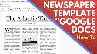 Editable Newspaper Template Google Docs - How To Make A Newspaper On Google Docs