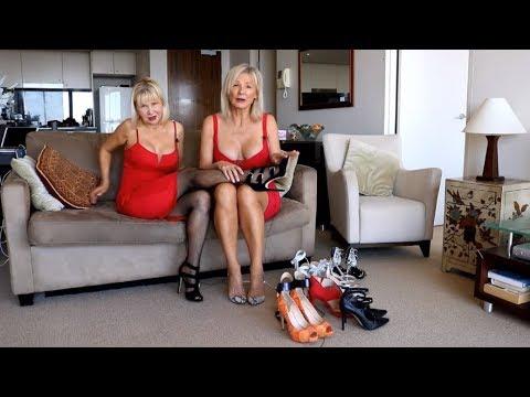 Blonde milf high heels