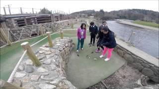 Playing golf at Hidden Valley Caravan & Camping Park!