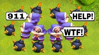 Funny Moments & Glitches & Fails | Clash of Clans Montage #1