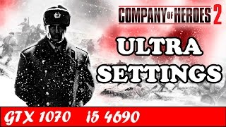 Company of Heroes 2 (Ultra Settings) | GTX 1070 + i5 4690 [1080p 60fps]