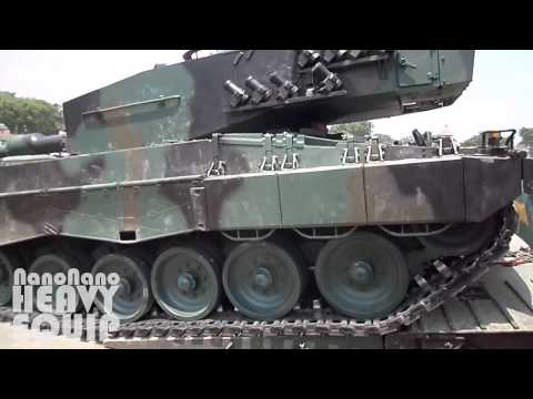 Self Loading LEOPARD Army Tank to Heavy Haul IVECO ASTRA Truck