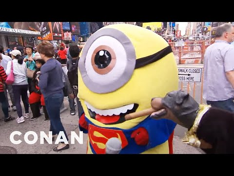 Triumph Takes On Times Square Mascots  - CONAN on TBS