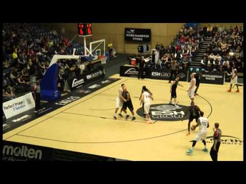 Jamal Williams (14 in WHITE) Worcester Wolves vs. Newcastle - Part 3
