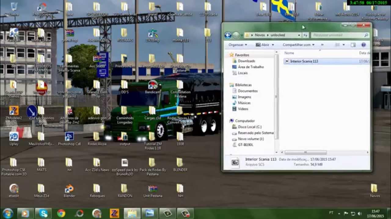 Como desbloquear Mods  SCS para editar no zmodeler ! Com Scs Unlocker 1 1  -Pestana