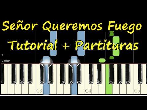 SEÑOR QUEREMOS FUEGO Piano Tutorial Cover Facil + Partitura PDF Sheet Music Easy Midi thumbnail