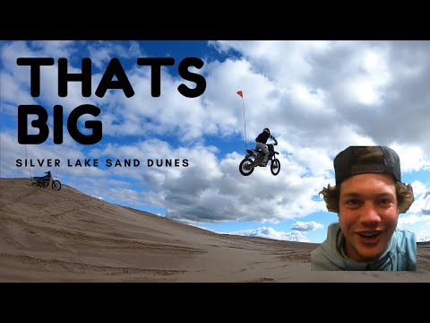 FINDING A BIG DIRTBIKE JUMP AT SILVER LAKE SAND DUNES