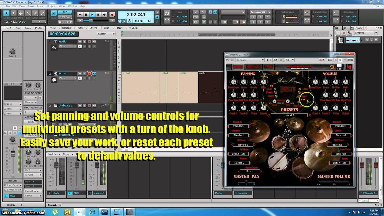 drum sample library vst plugin virtual instrument adam monroe 39 s beats youtube. Black Bedroom Furniture Sets. Home Design Ideas