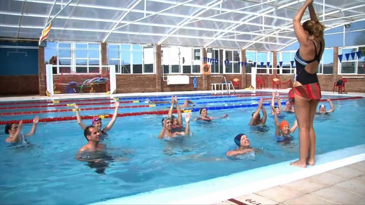 Sport al d a taller de aquagym youtube for Alberca para 8 personas