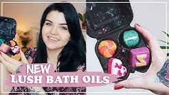 NEW LUSH BATH OILS 🌸 Unboxing, Demos & Review