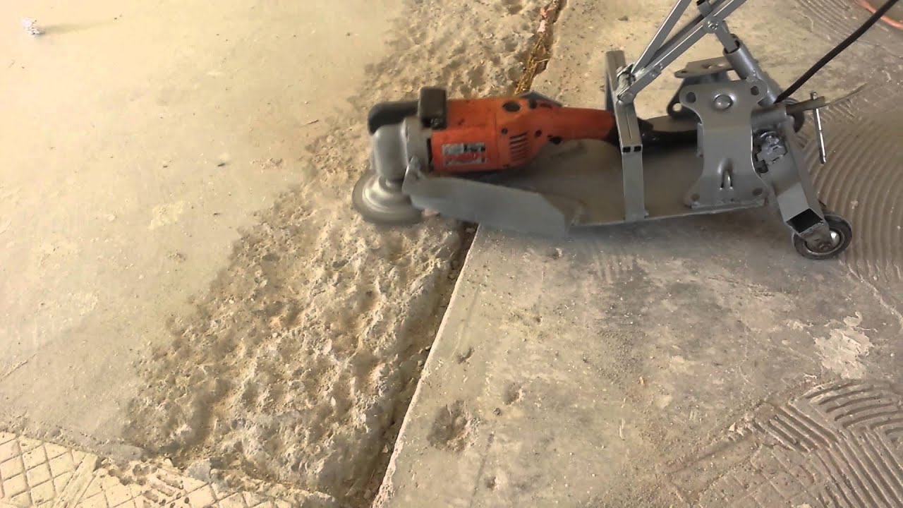 Concrete grinder home made machine  YouTube