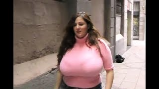 Gorgeous Plus Size Model Wandering On City Streets