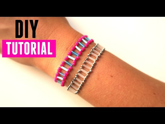 How to use Bugle Beads - Bracelet with Ladder Technique