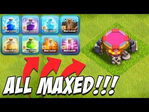 32,000 Gems! CLASH OF CLANS | GEMMING NEW DARK SPELL FACTORY lvl 3 & BUYING All DARK SPELLS MAX lvl!