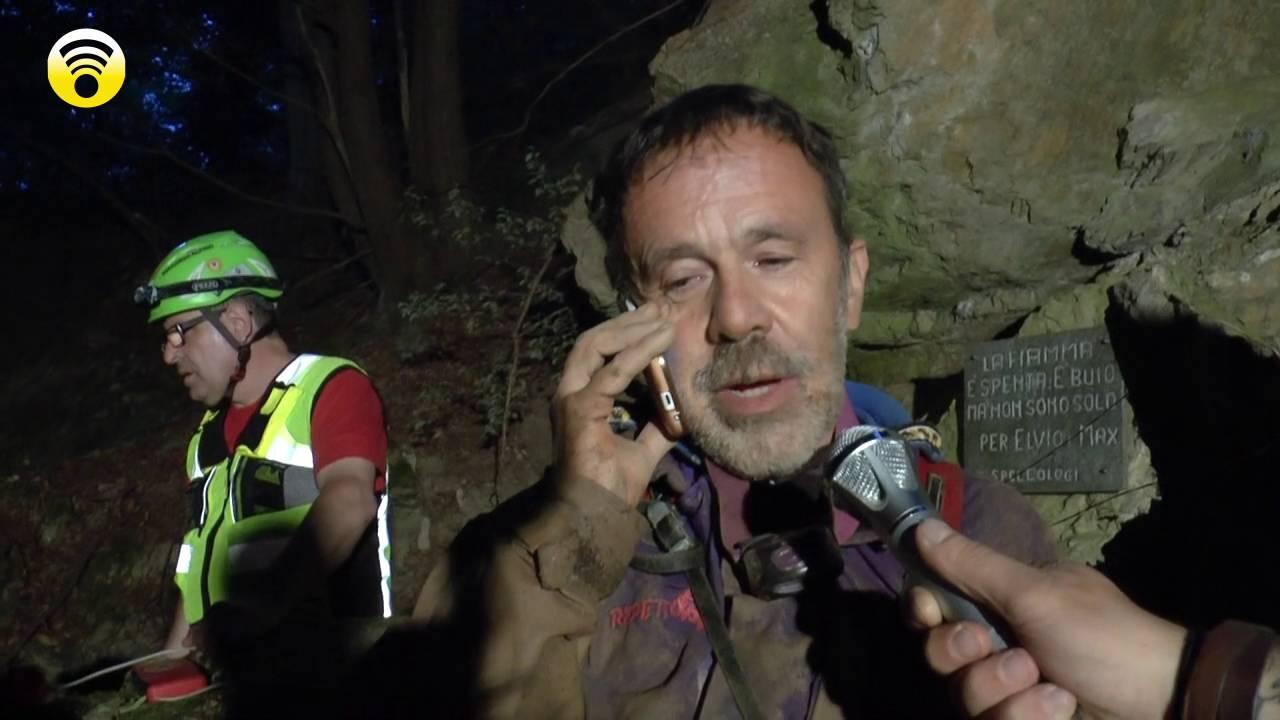 Bardineto. Brutta avventura per due speleologi genovesi: video #1