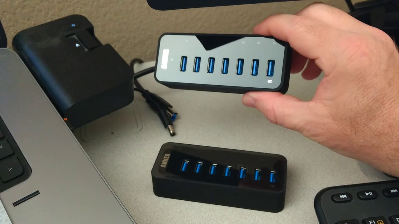 Unboxing Review Anker 7 Port Usb 30 Data Hub With 36w Power Adapter