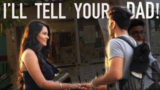 """Aapke Papa Ko Bata Du?"" | Pranks In India | The Teen Trolls"